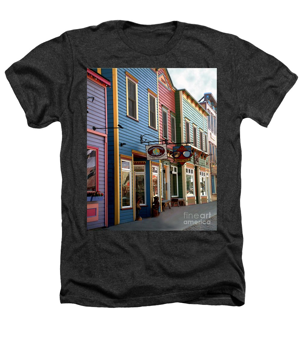 Landscape Heathers T-Shirt featuring the photograph The Shops In Crested Butte by RC DeWinter