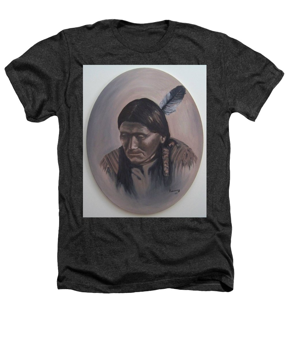 Michael Heathers T-Shirt featuring the painting The Story Teller by Michael TMAD Finney