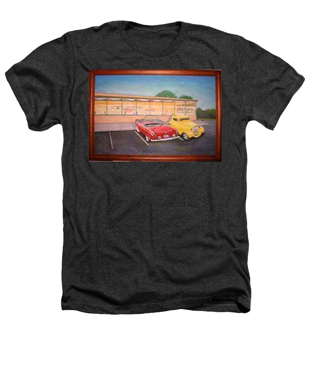 Rick Huotari Heathers T-Shirt featuring the painting Times Past Diner by Rick Huotari