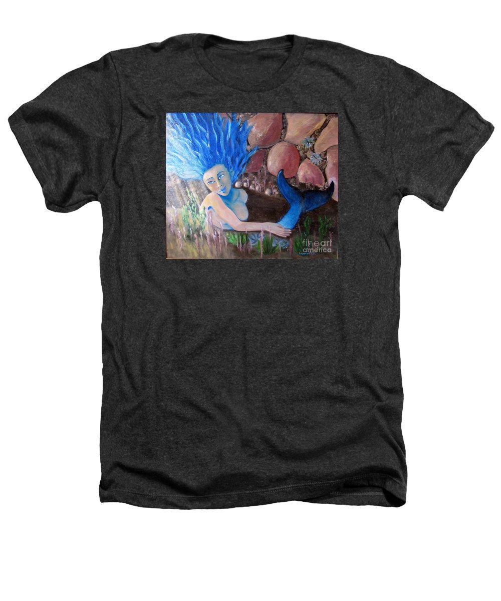 Mermaid Heathers T-Shirt featuring the painting Underwater Wonder by Laurie Morgan