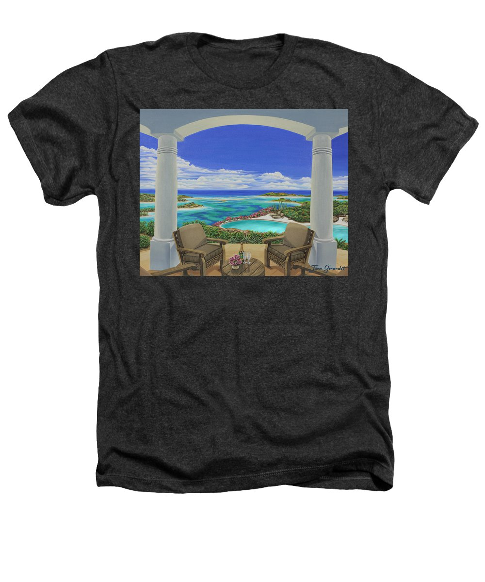 Ocean Heathers T-Shirt featuring the painting Vacation View by Jane Girardot