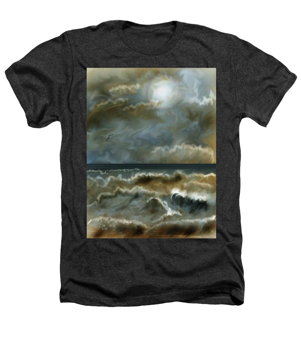 Seascape Heathers T-Shirt featuring the painting After The Squall by Anne Norskog