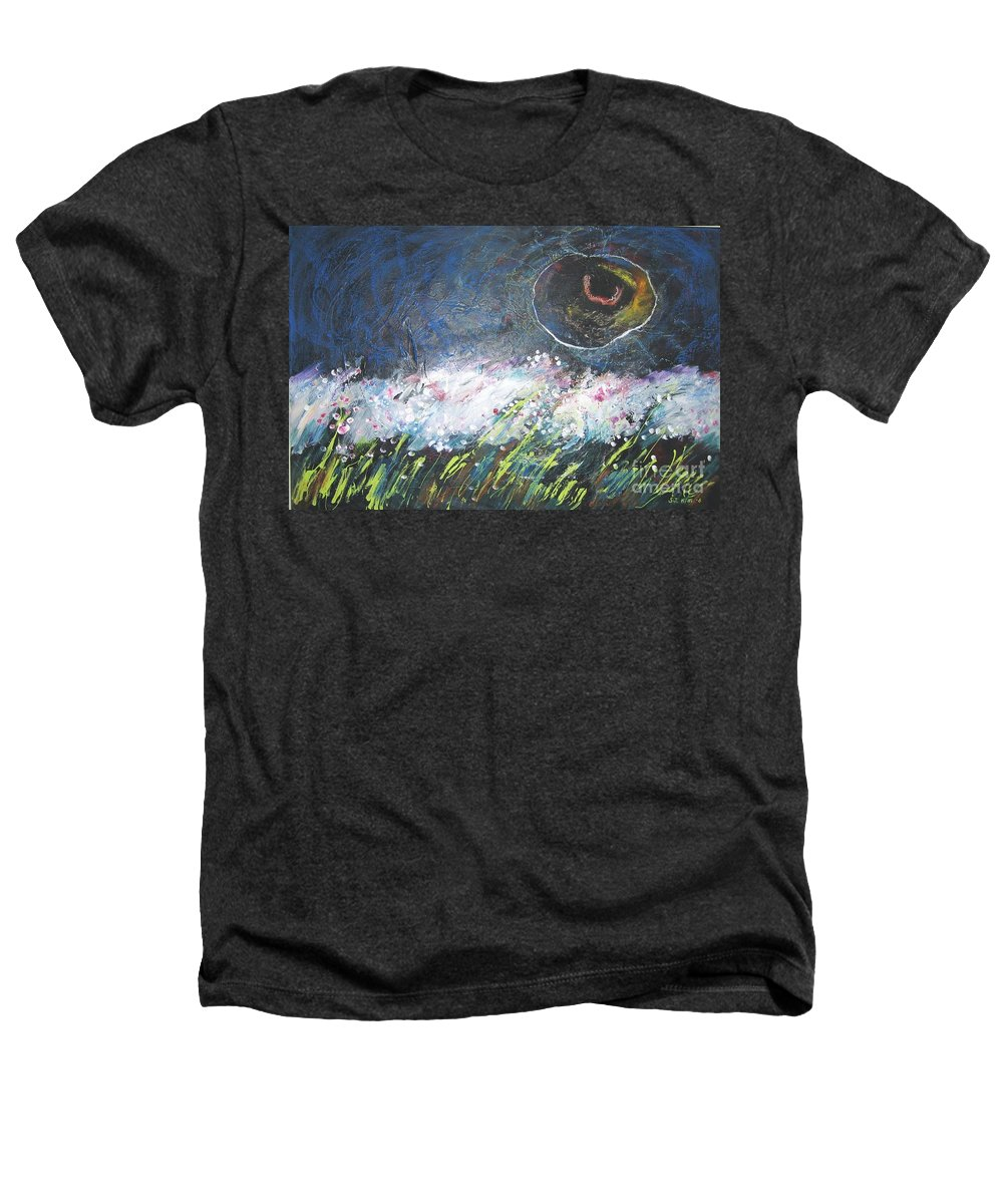 Aabstract Paintings Heathers T-Shirt featuring the painting Buckwheat Field by Seon-Jeong Kim