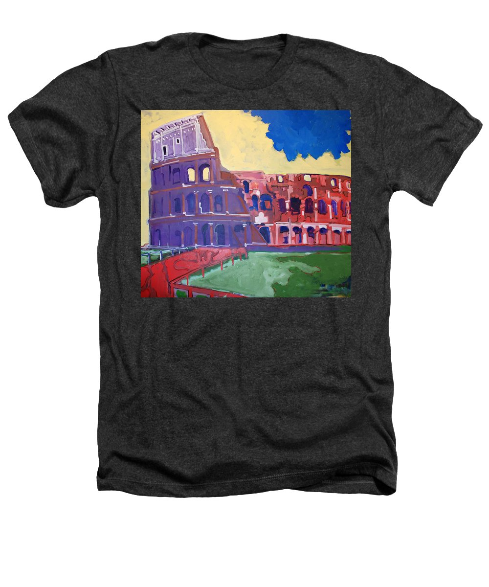 Rome Heathers T-Shirt featuring the painting Colosseum by Kurt Hausmann