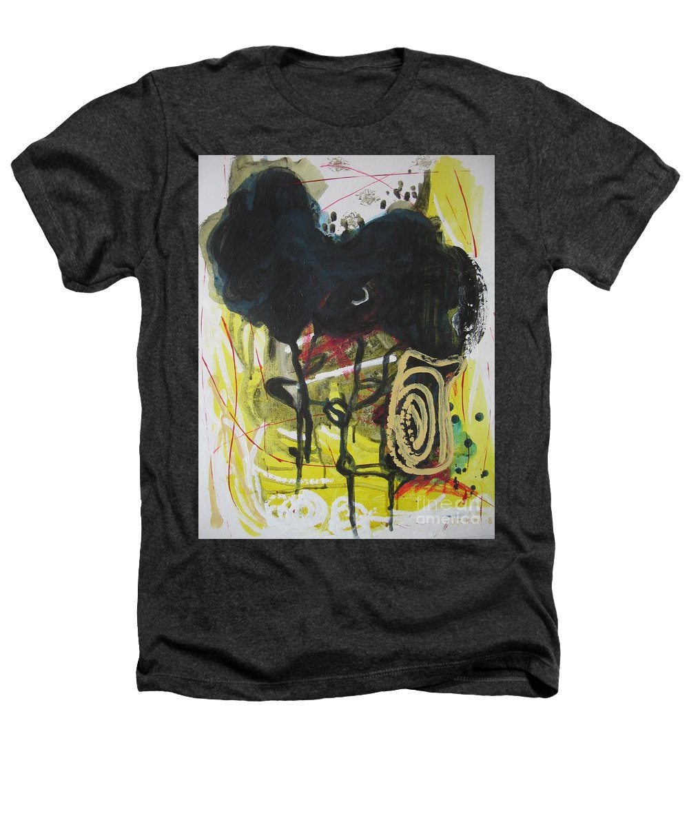 Abstract Paintings Heathers T-Shirt featuring the painting Crescent2 by Seon-Jeong Kim