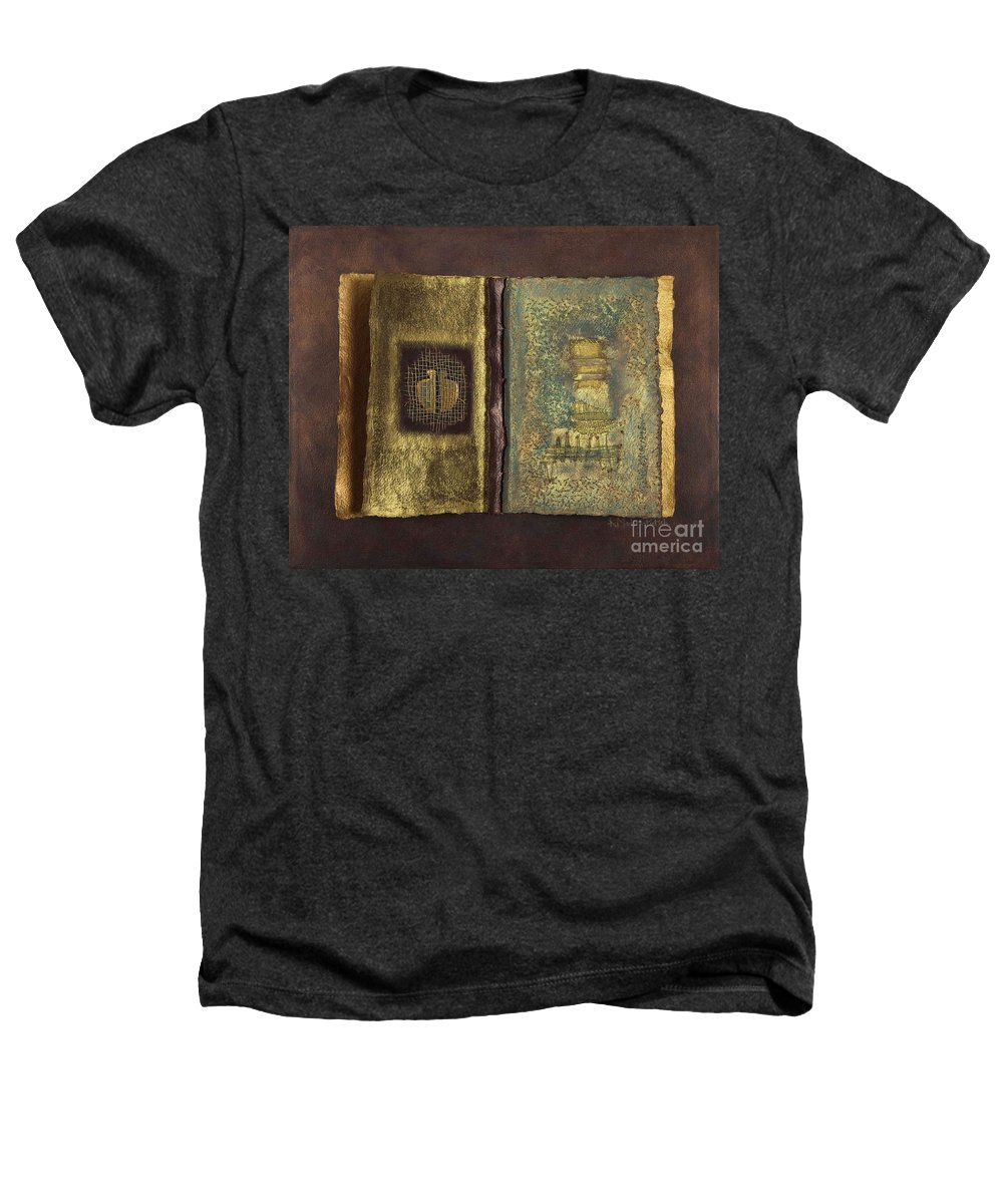 Artist-book Heathers T-Shirt featuring the mixed media Page Format No 1 Transitional Series by Kerryn Madsen-Pietsch