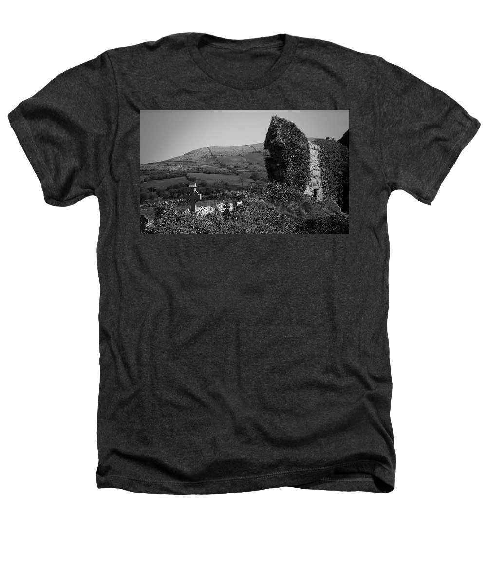 Irish Heathers T-Shirt featuring the photograph Ruins In The Burren County Clare Ireland by Teresa Mucha