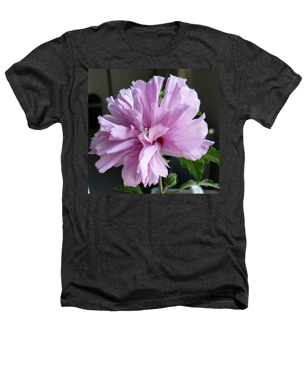 Phoyography.hibiscus Flower Floral Bloom Bush Pink Heathers T-Shirt featuring the photograph So Pink by Karin Dawn Kelshall- Best
