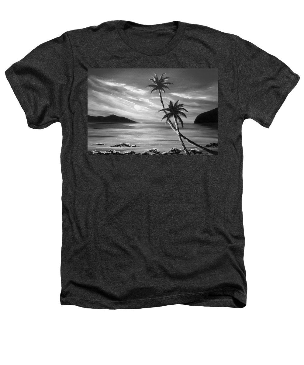 Sunset Heathers T-Shirt featuring the painting Sunset In Paradise by Gina De Gorna