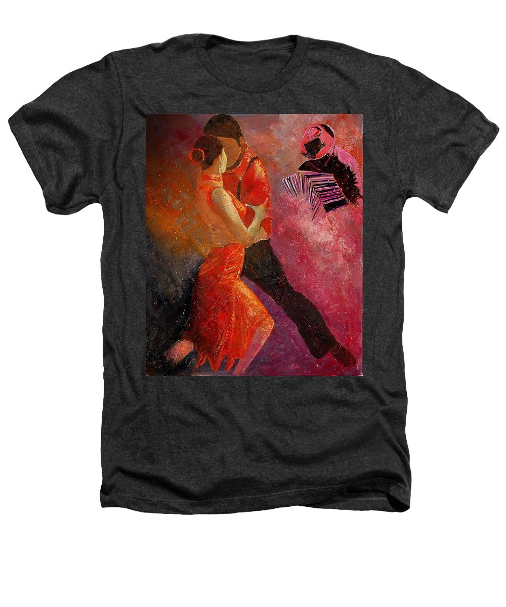 Tango Heathers T-Shirt featuring the painting Tango by Pol Ledent