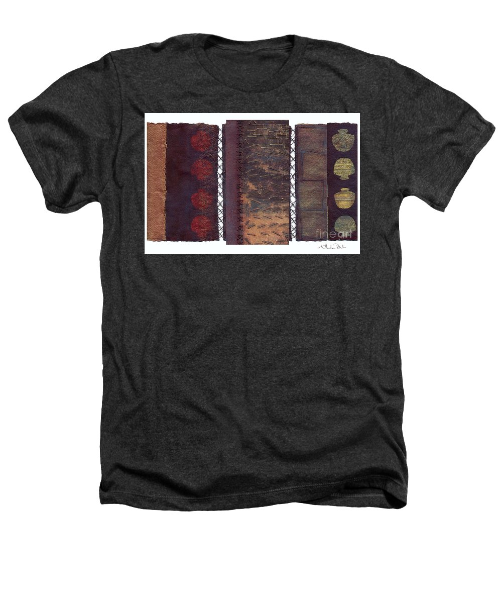 3panel Heathers T-Shirt featuring the painting Three Panel Transitional Page Format by Kerryn Madsen- Pietsch