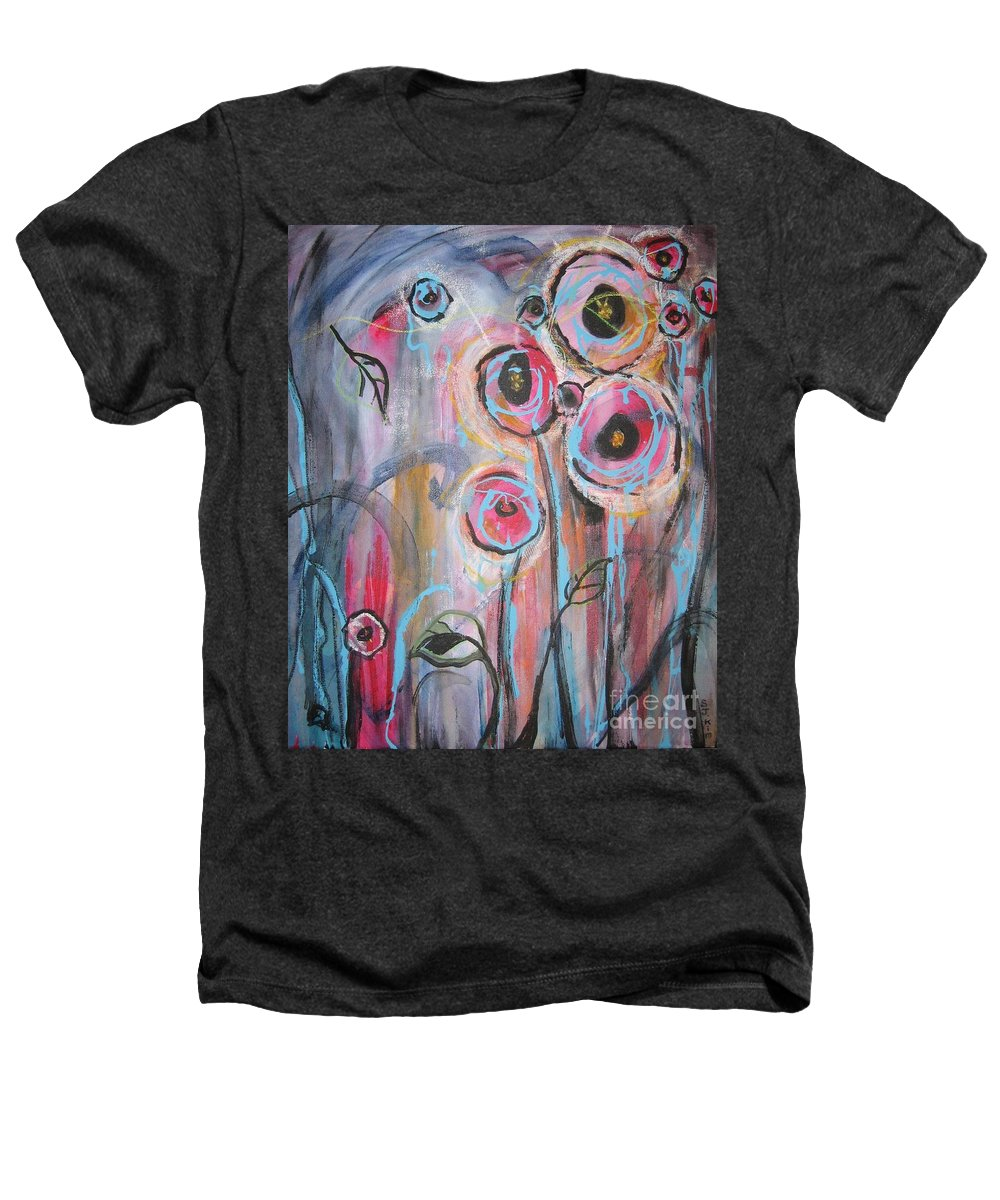 Aabstract Paintings Heathers T-Shirt featuring the painting Too Many Temptations by Seon-Jeong Kim