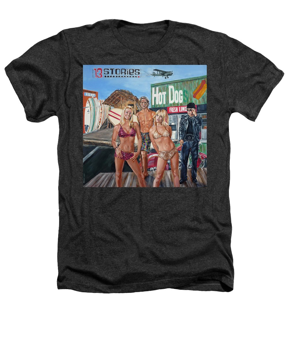 Band Heathers T-Shirt featuring the painting 13 Stories by Bryan Bustard