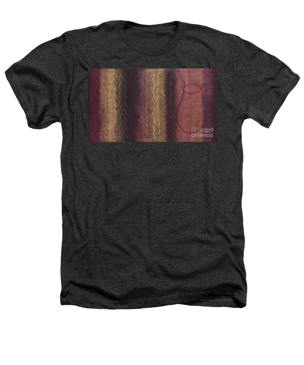 Acrylic Heathers T-Shirt featuring the painting Embodiment - Divine Source by Kerryn Madsen- Pietsch