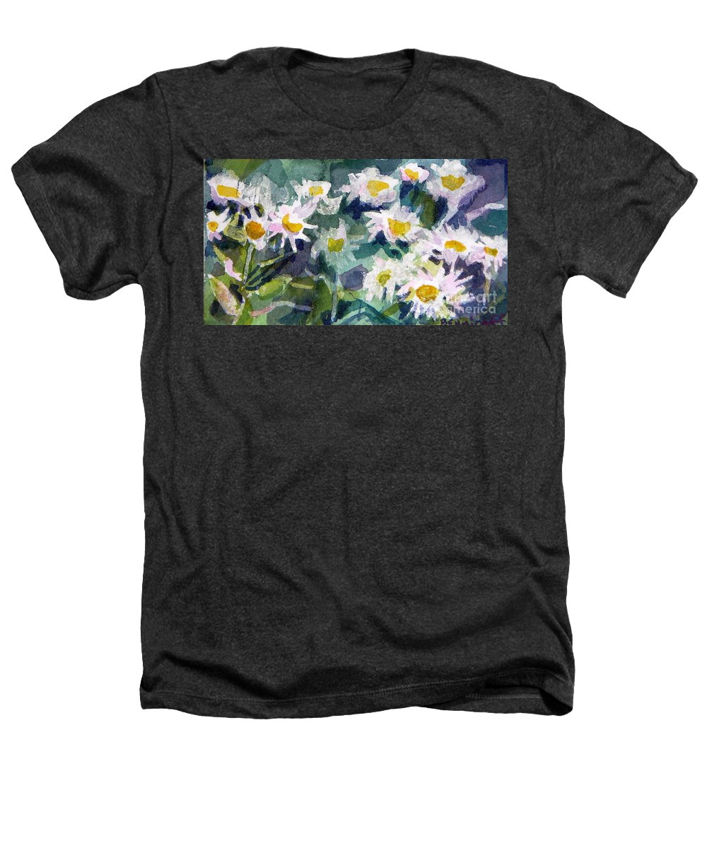 Flowers Heathers T-Shirt featuring the painting Little Asters by Jan Bennicoff