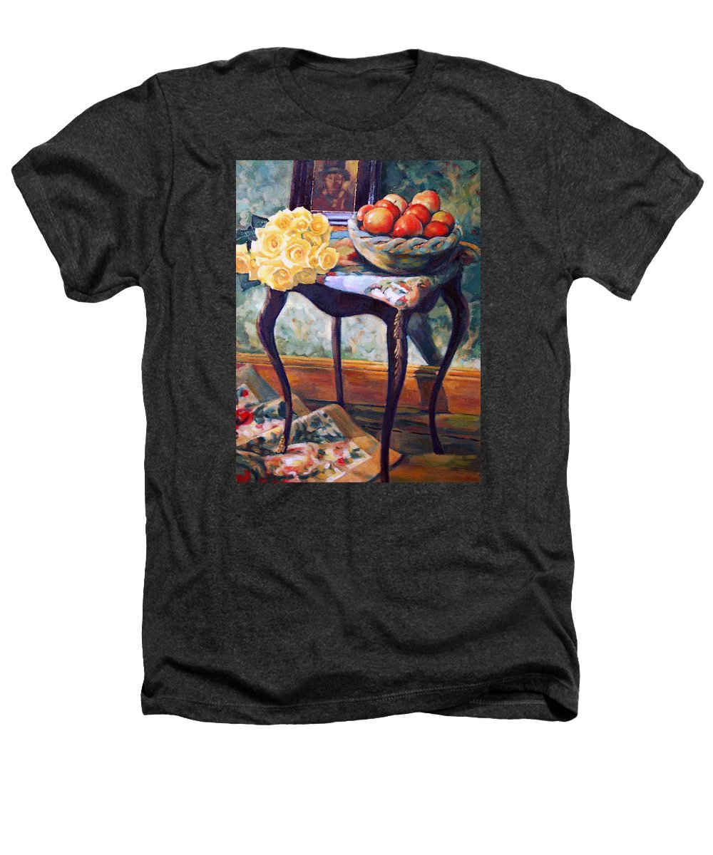 Still Life Heathers T-Shirt featuring the painting Still Life With Roses by Iliyan Bozhanov