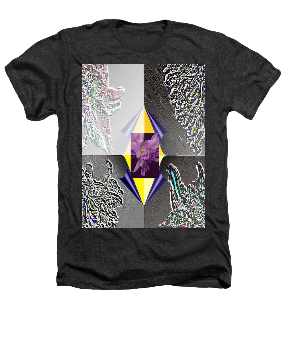 Florals Heathers T-Shirt featuring the digital art 4 Points Of Interest by Brenda L Spencer