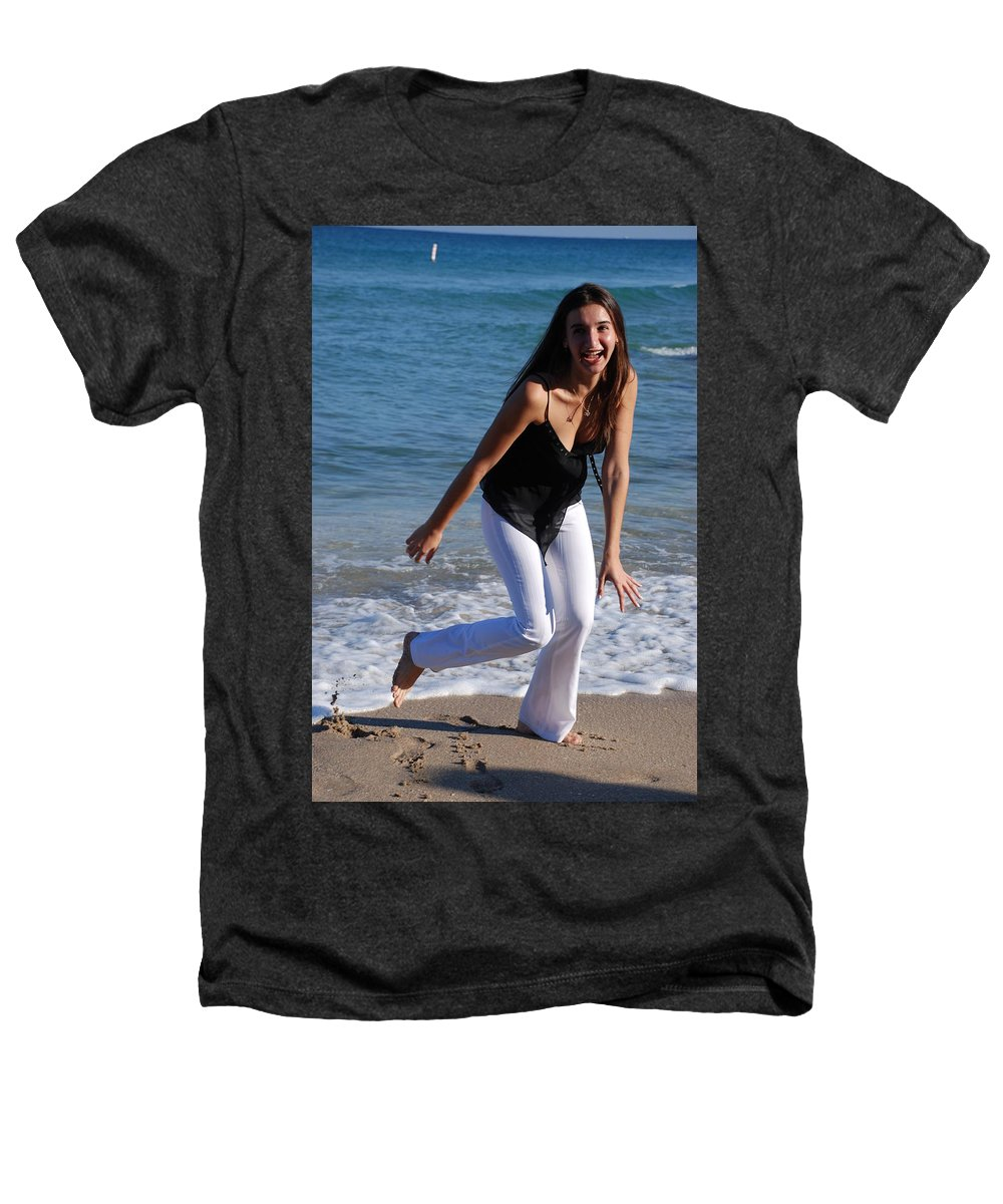 Sea Scape Heathers T-Shirt featuring the photograph Gisele by Rob Hans