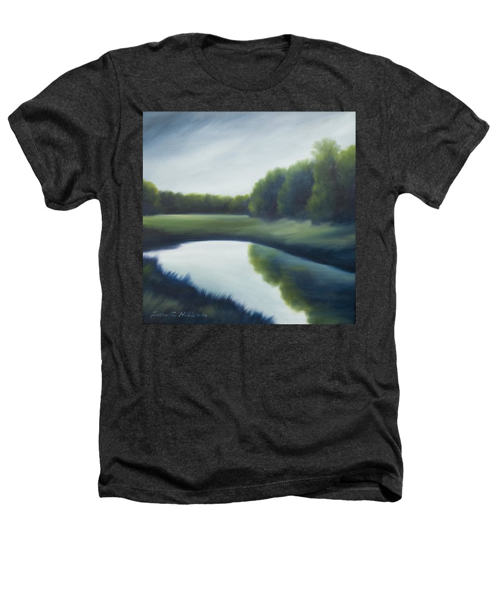 Clouds Heathers T-Shirt featuring the painting A Day In The Life 2 by James Christopher Hill
