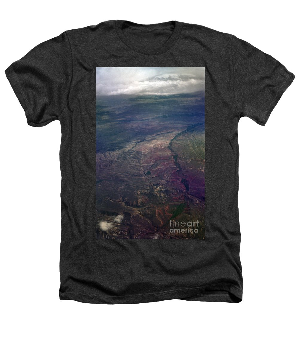 Aerial Photography Heathers T-Shirt featuring the photograph A Midwestern Landscape by Richard Rizzo