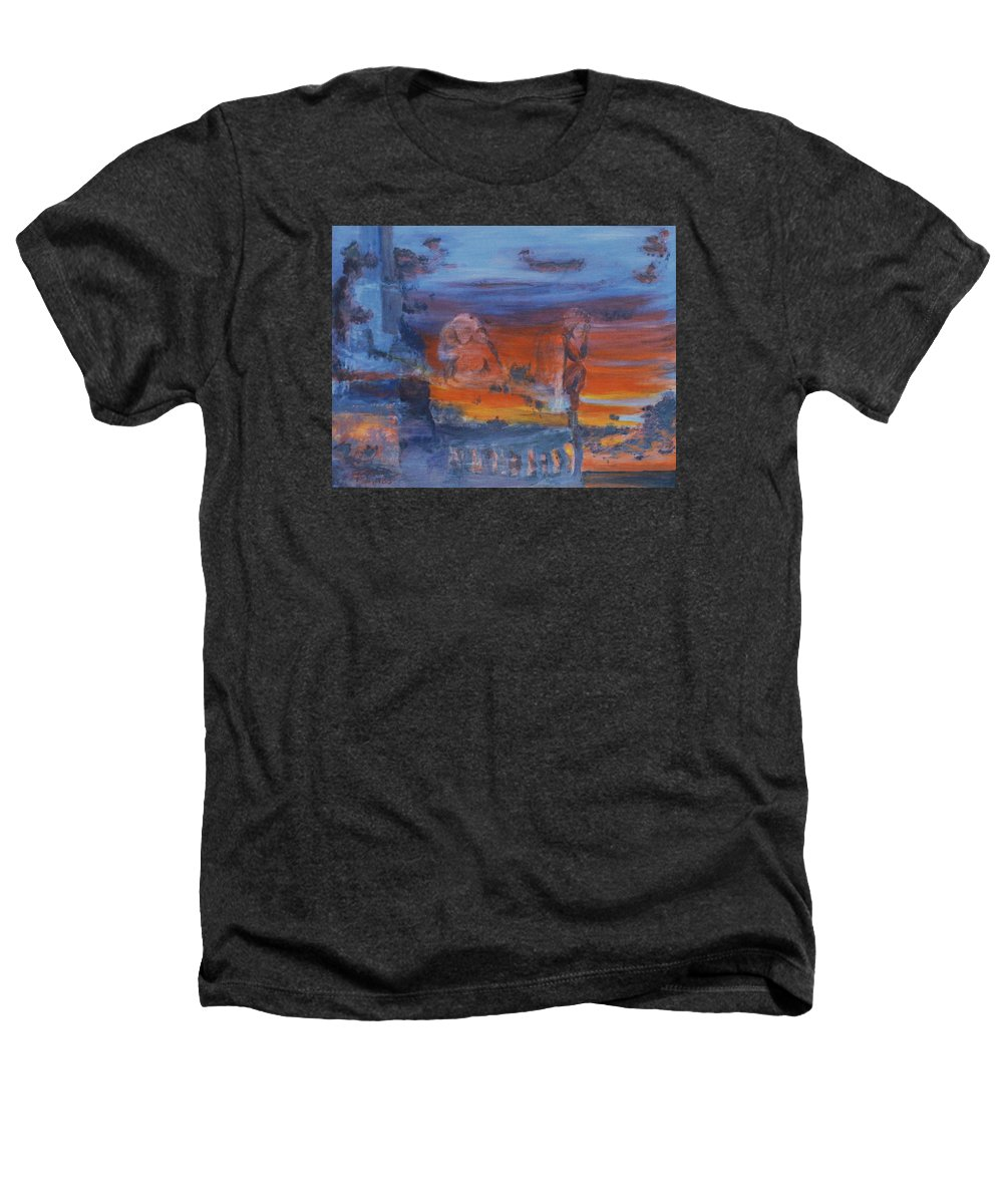 Abstract Heathers T-Shirt featuring the painting A Mystery Of Gods by Steve Karol