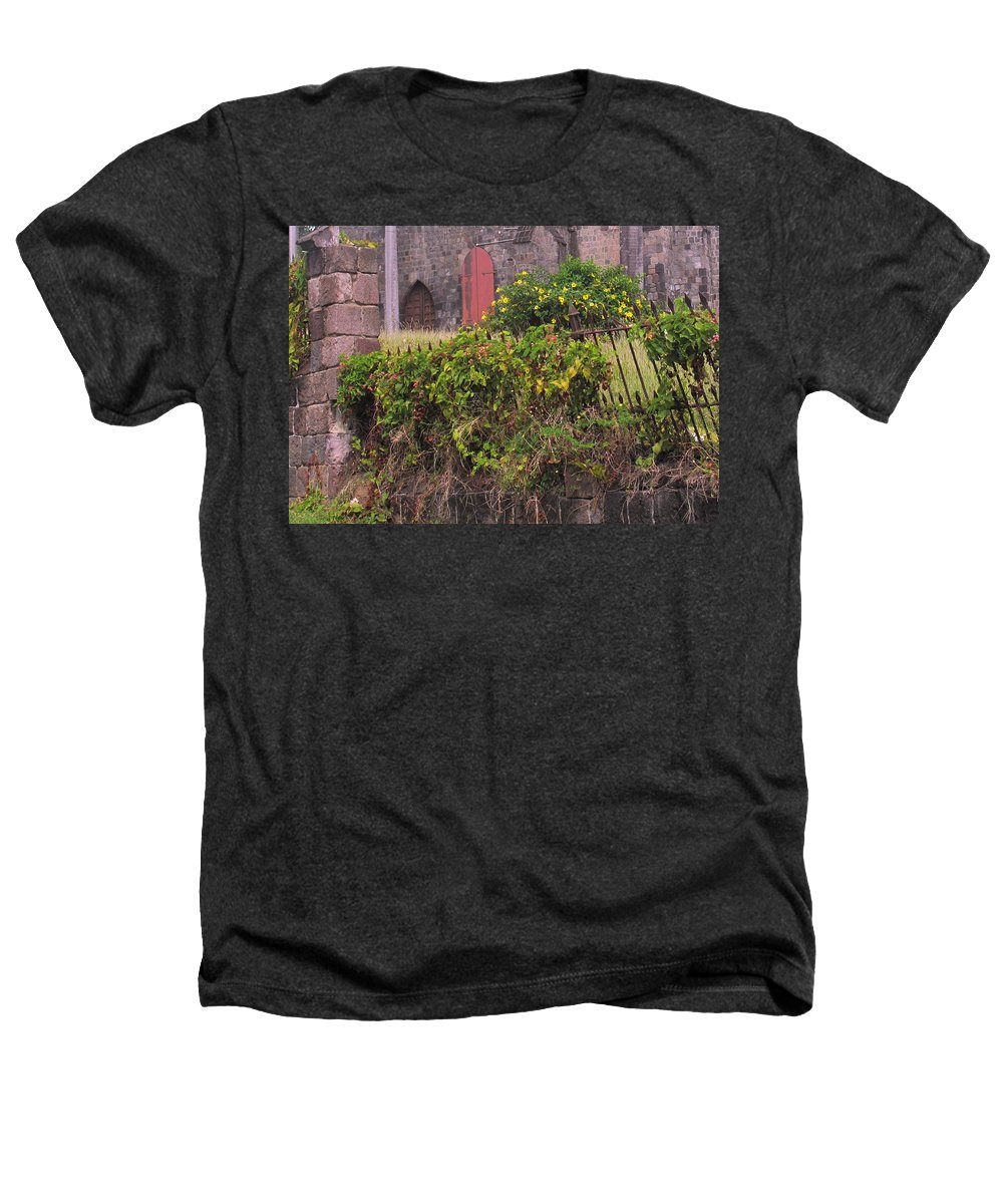 Anglican Heathers T-Shirt featuring the photograph Abandoned Churchyard by Ian MacDonald