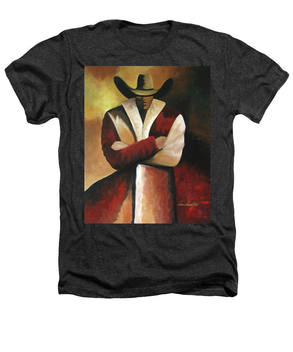 Heathers T-Shirt featuring the painting Abstract Cowboy by Lance Headlee