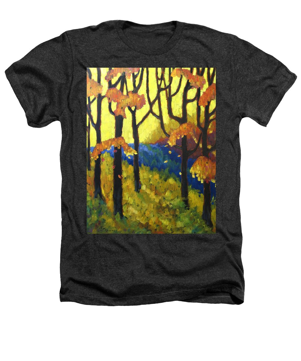 Art Heathers T-Shirt featuring the painting Abstract Forest by Richard T Pranke