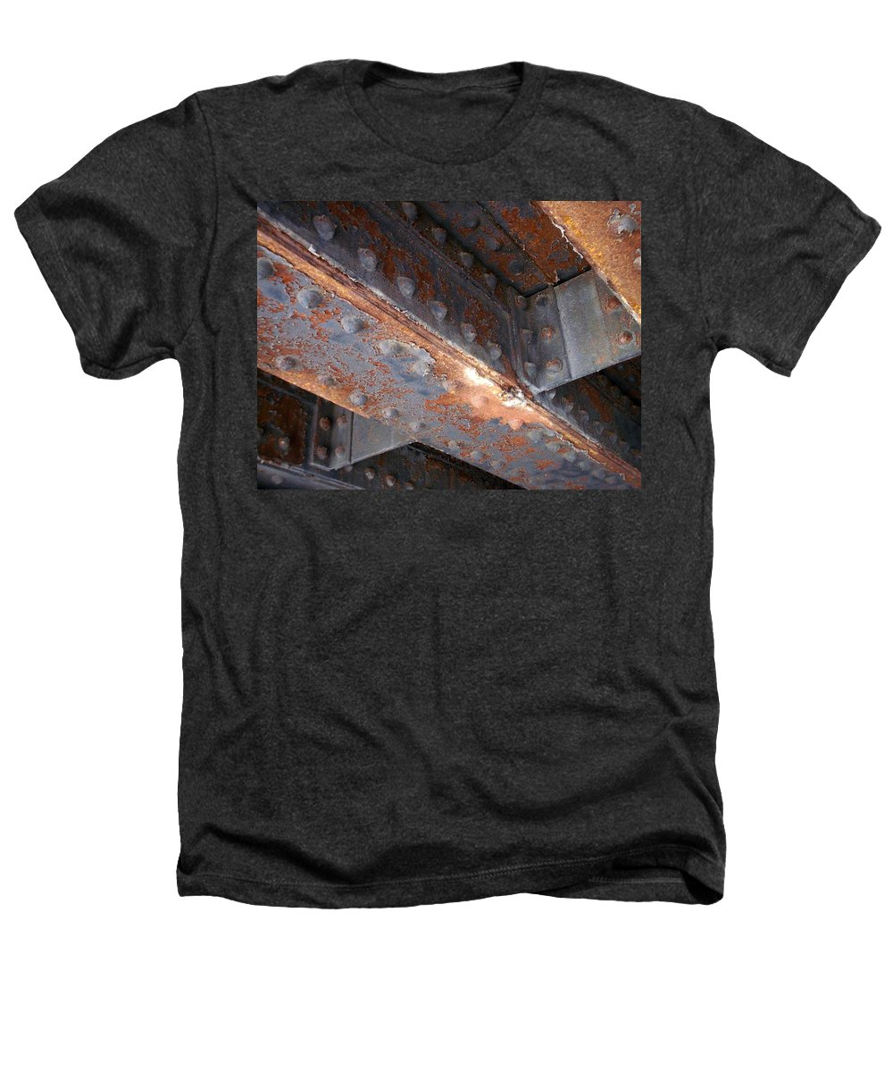 Urban Heathers T-Shirt featuring the photograph Abstract Rust 3 by Anita Burgermeister