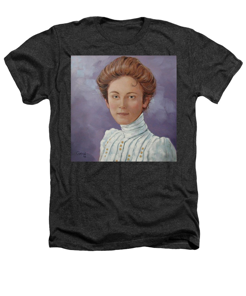Posthumous Portrait Heathers T-Shirt featuring the painting Ada Douglas by Jerrold Carton