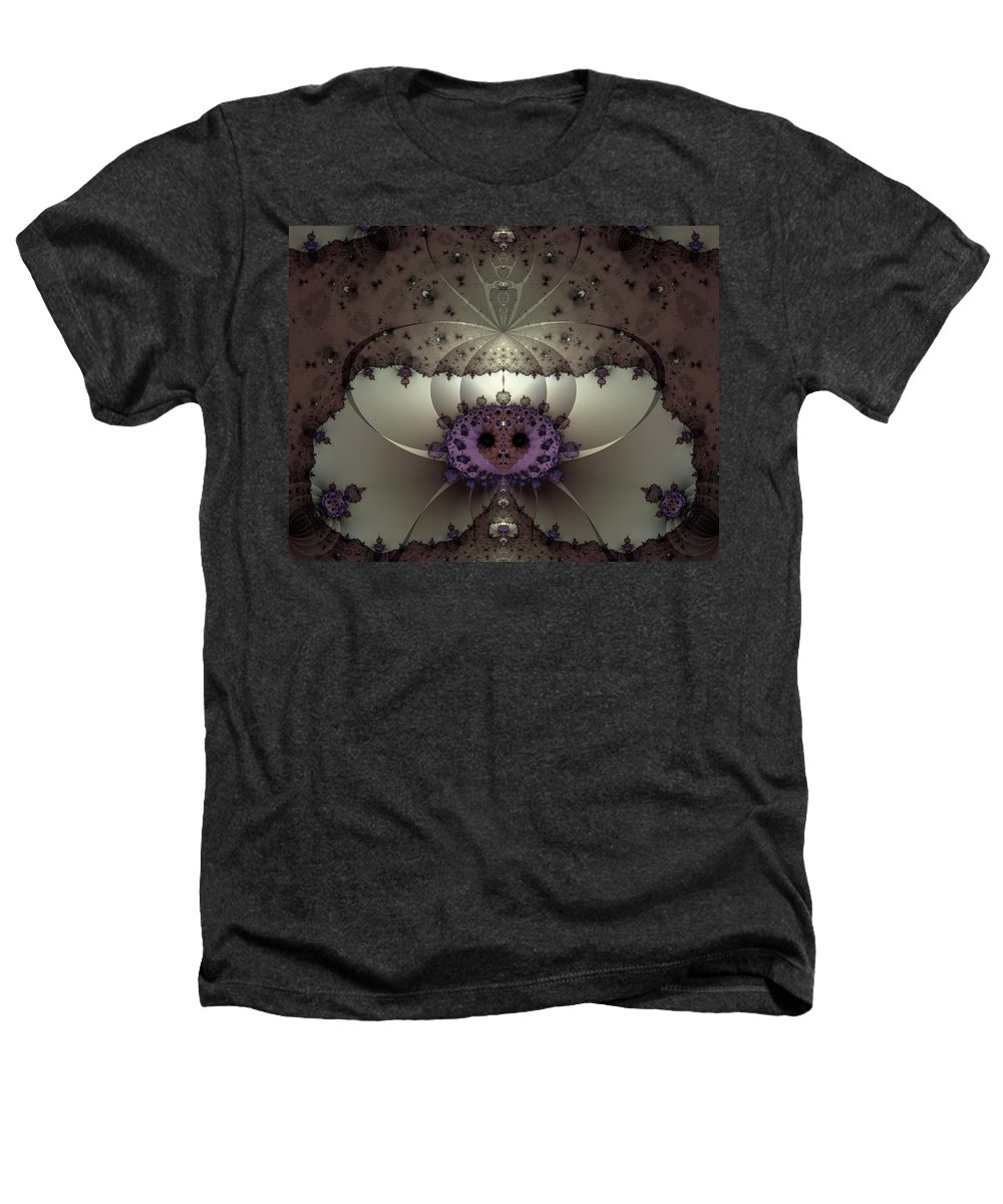 Abstract Heathers T-Shirt featuring the digital art Alien Exotica by Casey Kotas
