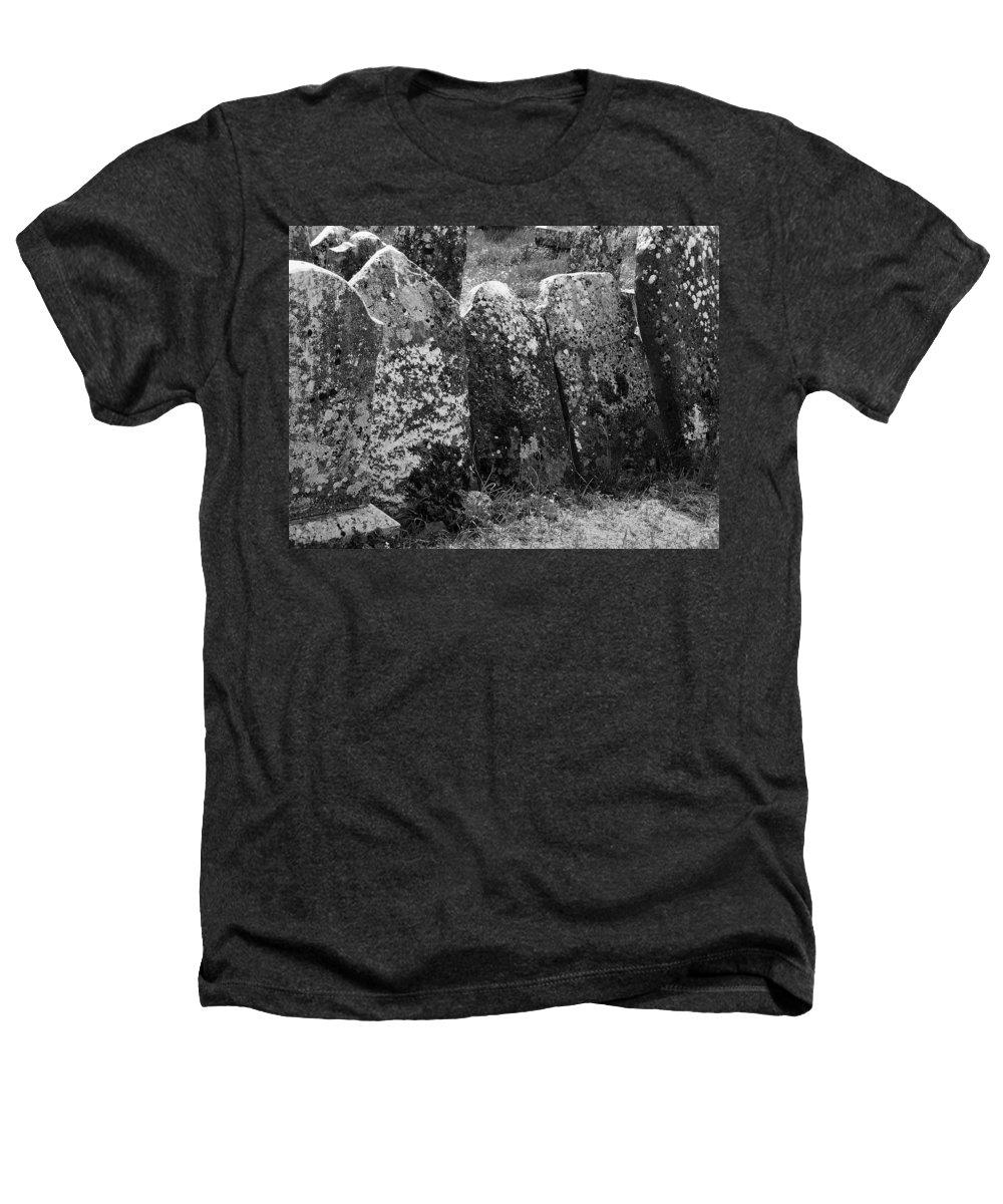 Ireland Heathers T-Shirt featuring the photograph All In A Row At Fuerty Cemetery Roscommon Ireland by Teresa Mucha