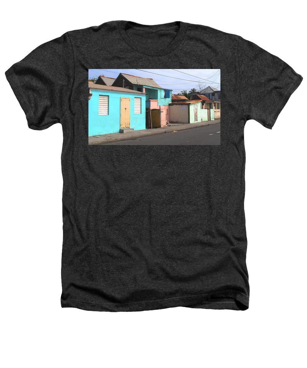 St Kitts Heathers T-Shirt featuring the photograph Along Bay Road by Ian MacDonald