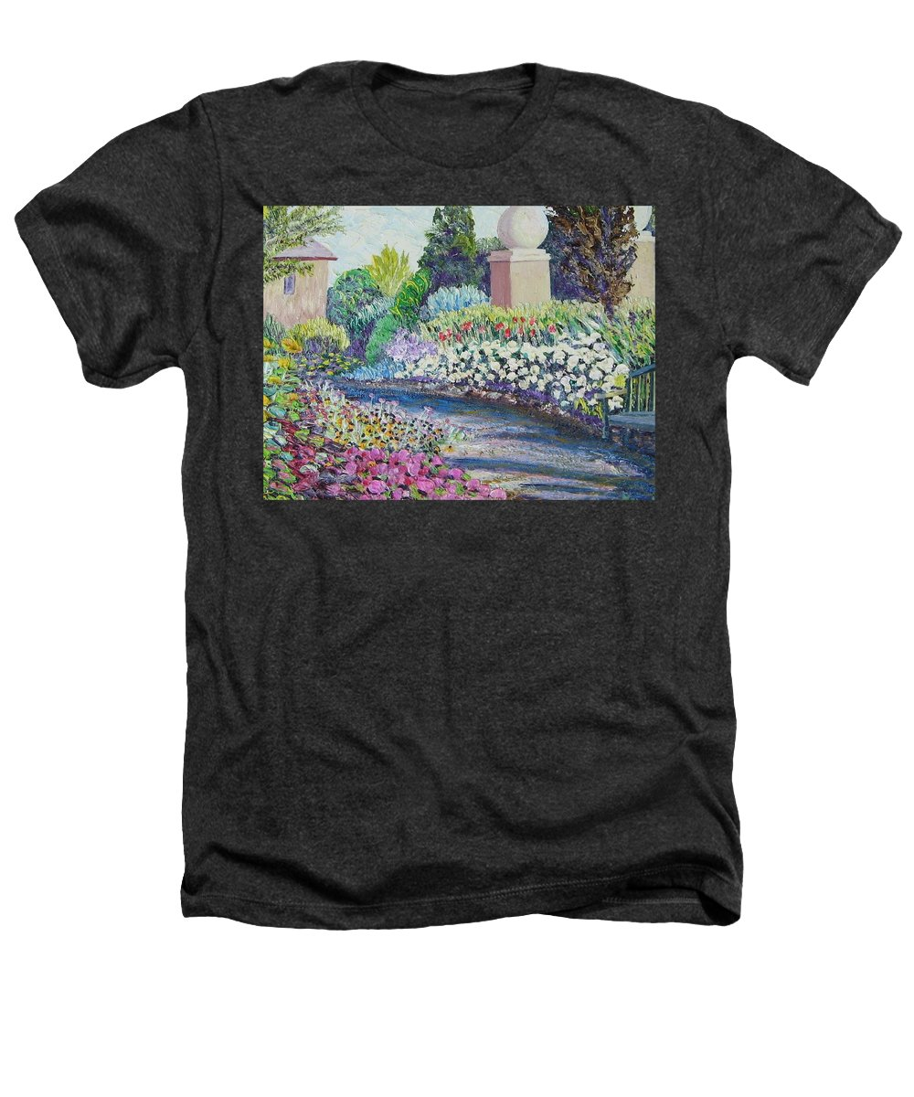 Flowers Heathers T-Shirt featuring the painting Amelia Park Pathway by Richard Nowak