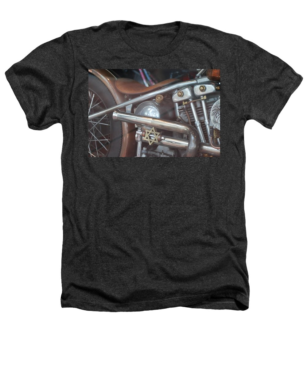 Motorcycle Heathers T-Shirt featuring the photograph Ami's Bike by Rob Hans
