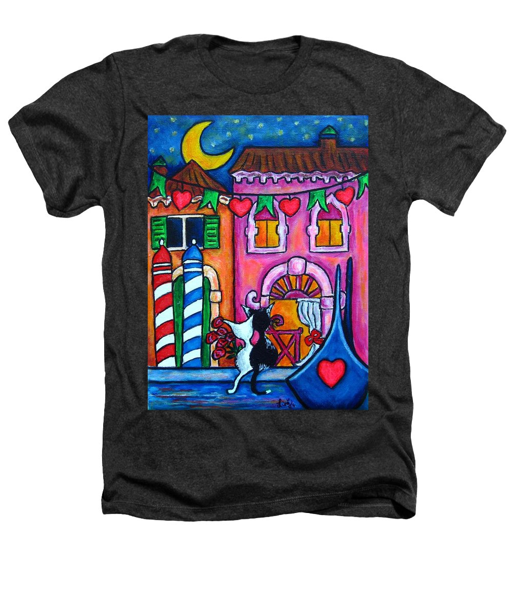 Cats Heathers T-Shirt featuring the painting Amore In Venice by Lisa Lorenz