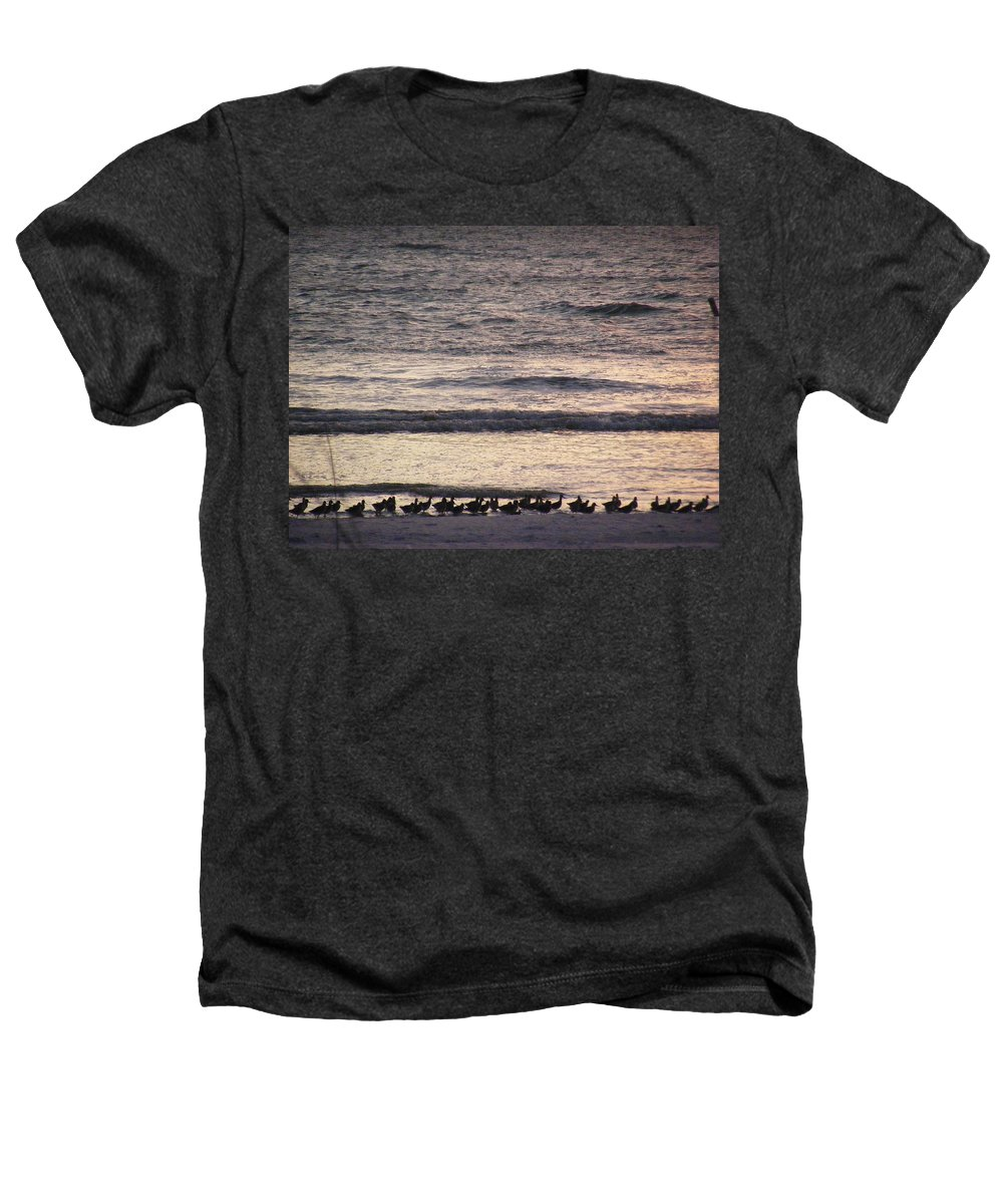 Evening Stroll Heathers T-Shirt featuring the photograph An Evening Stroll by Ed Smith