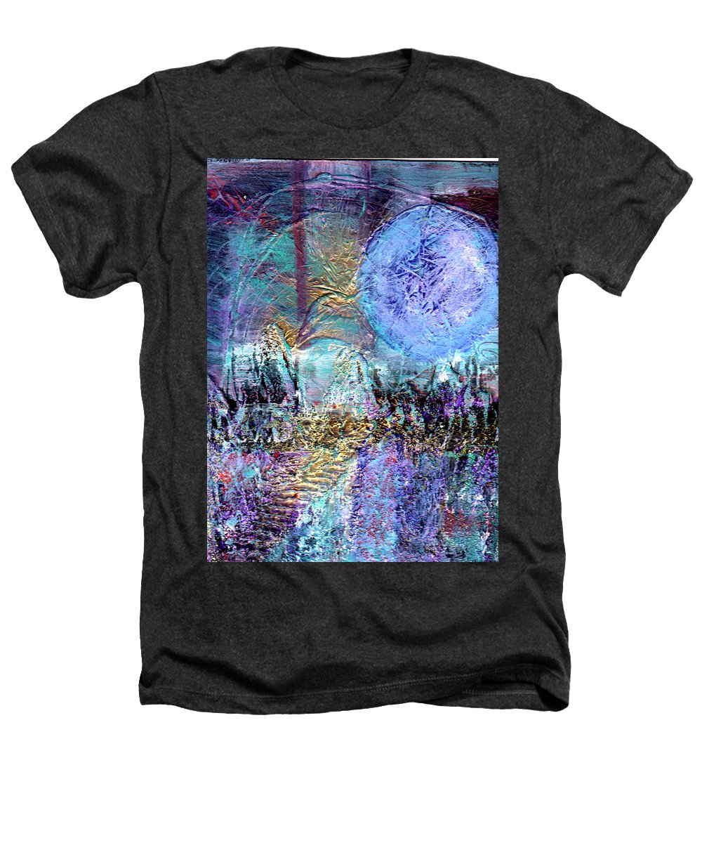 Surreal Heathers T-Shirt featuring the painting Another World by Wayne Potrafka