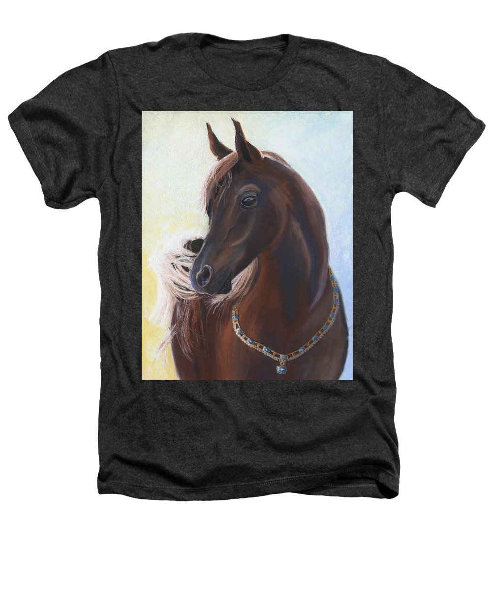 Horse Heathers T-Shirt featuring the painting Arabian Prince by Heather Coen