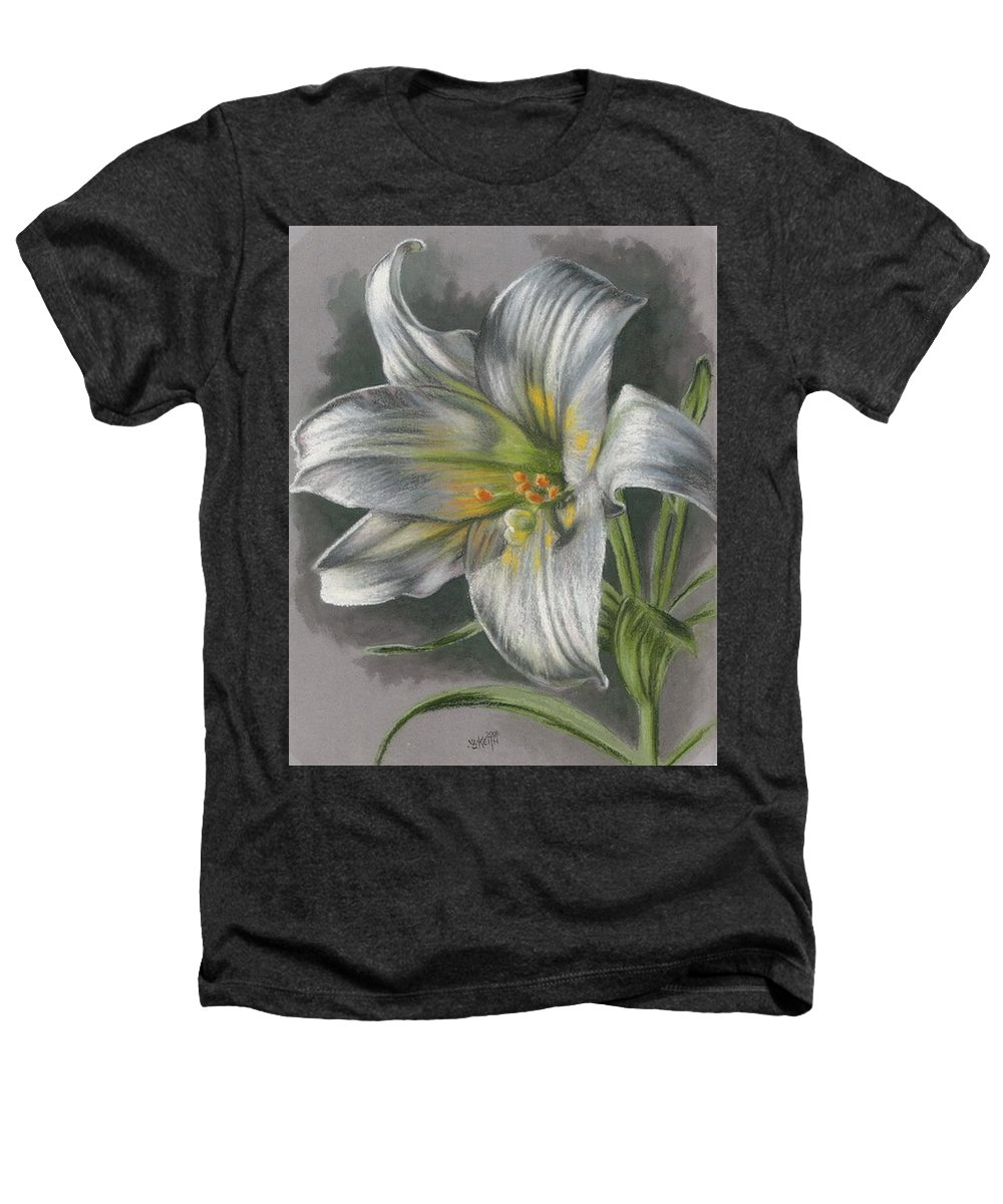 Easter Lily Heathers T-Shirt featuring the mixed media Arise by Barbara Keith