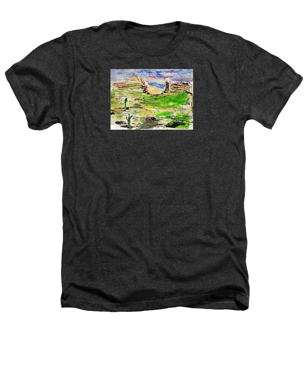 Impressionist Painting Heathers T-Shirt featuring the painting Arizona Skies by J R Seymour