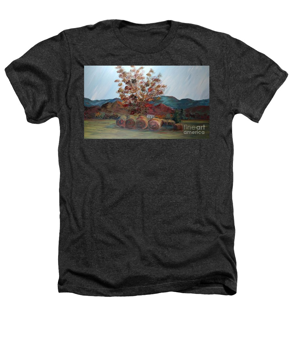 Autumn Heathers T-Shirt featuring the painting Arkansas Autumn by Nadine Rippelmeyer