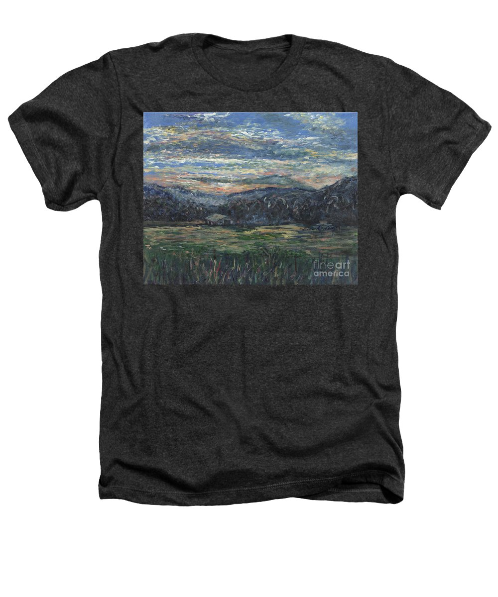 Impressionism Heathers T-Shirt featuring the painting Arkansas Sunrise by Nadine Rippelmeyer