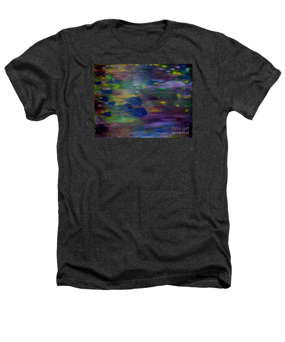 Abstract Heathers T-Shirt featuring the painting Around The Worlds by Laurie Morgan