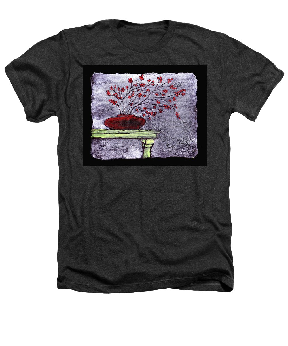 Flower Heathers T-Shirt featuring the painting Arrangement In Red by Wayne Potrafka