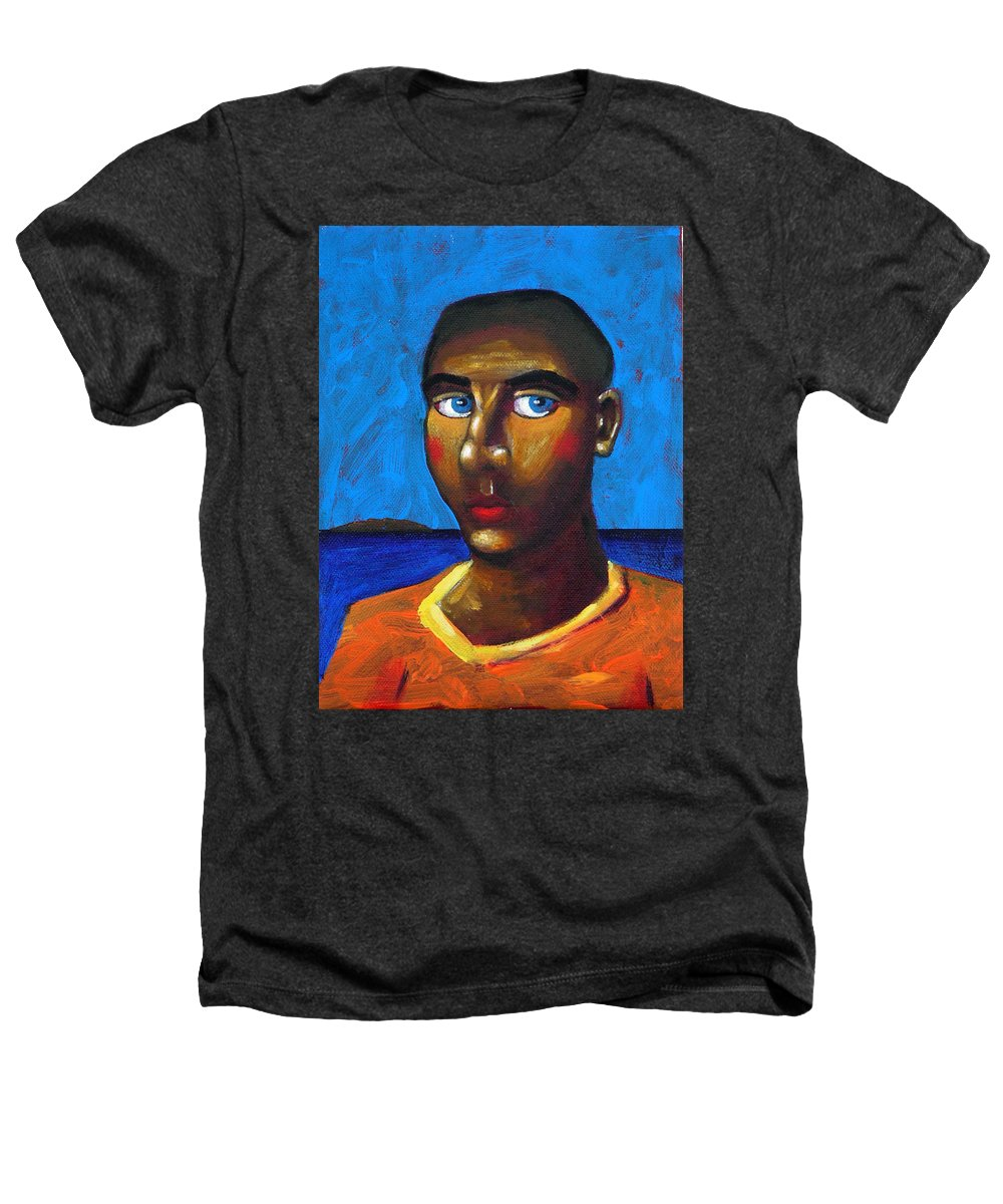 Arsonist Heathers T-Shirt featuring the painting Arsonist by Dimitris Milionis
