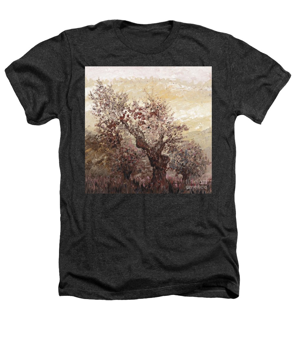 Landscape Heathers T-Shirt featuring the painting Asian Mist by Nadine Rippelmeyer