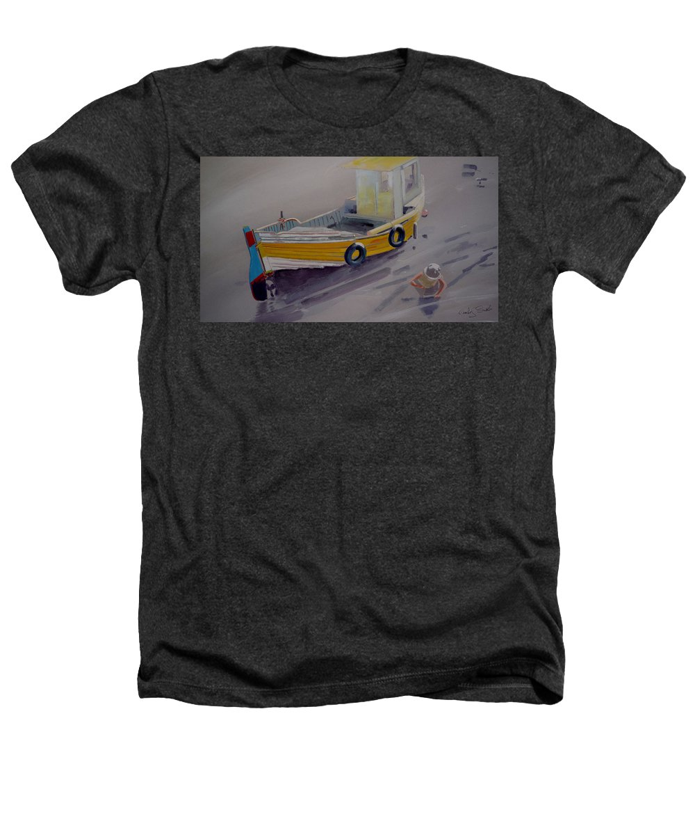 Seascape Heathers T-Shirt featuring the painting At Low Tide by Charles Stuart