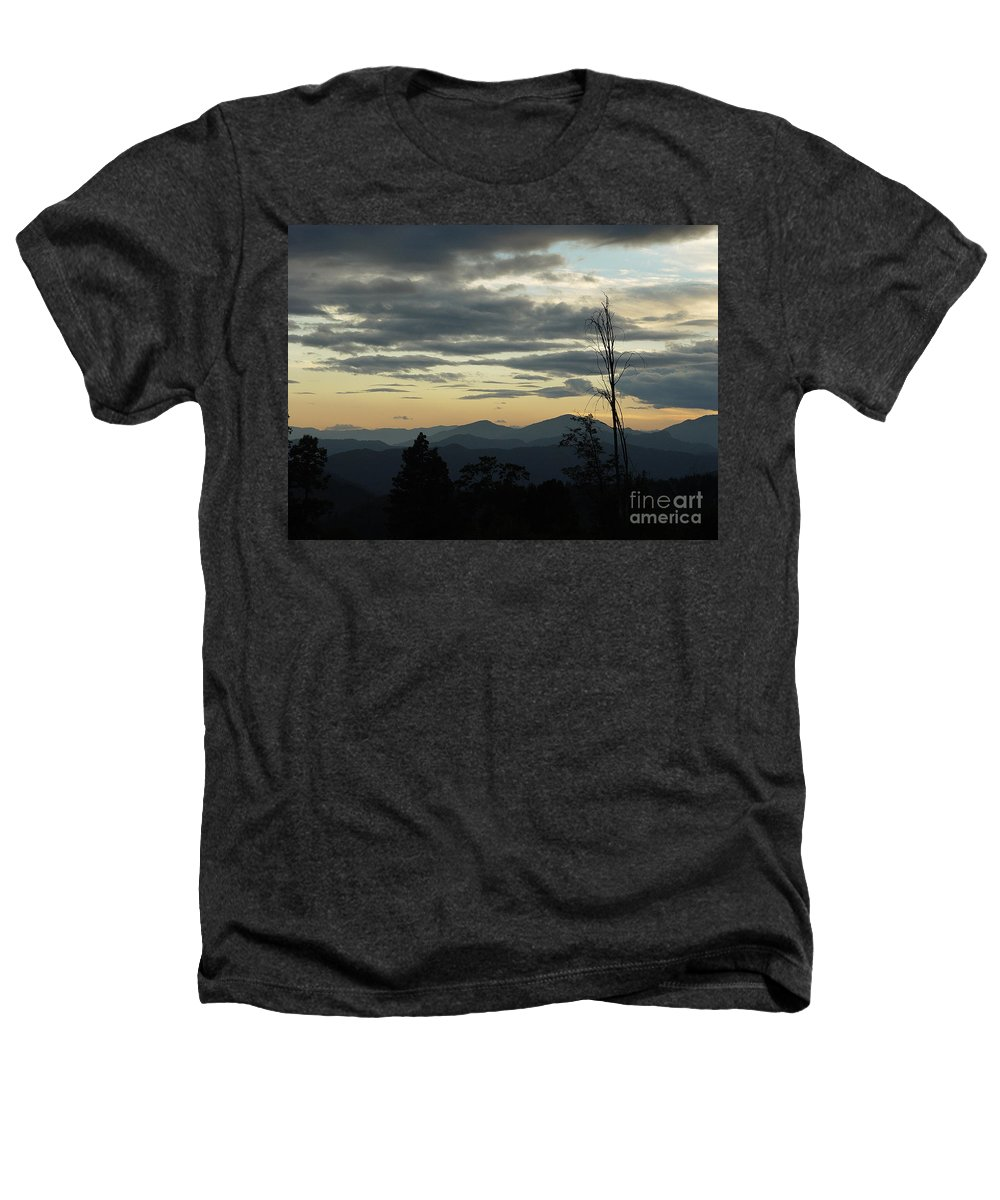 Atmospheric Heathers T-Shirt featuring the photograph Atmospheric Perspective by Peter Piatt