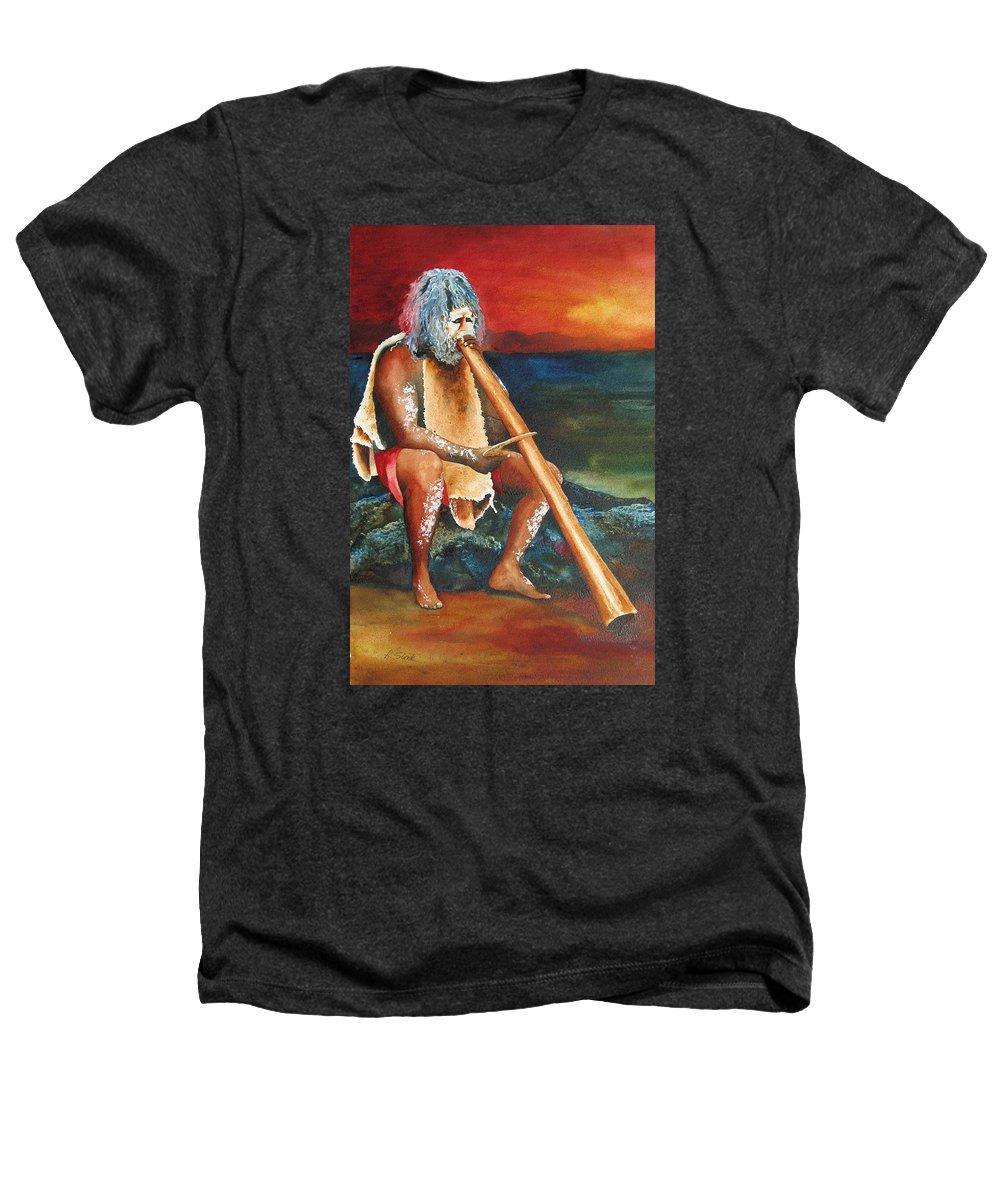 Australian Heathers T-Shirt featuring the painting Australian Solo by Karen Stark